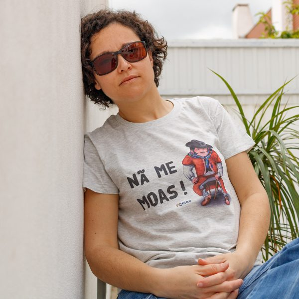 T-shirt Nã me moas cinza Ti Xico