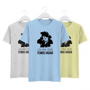 coleção alentejanices t-shirts calma que temos vagar- tixico