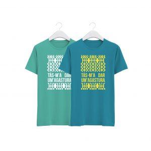 fotos tshirts azul agua e azul turquesa agastura da colecção alentejanices crianças promo dia das crianças