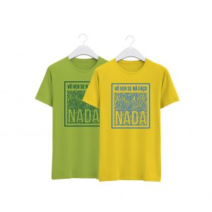 fotos das tshirts verde e amarela na faço nada da colecção alentejanices crianças promo dia das crianças