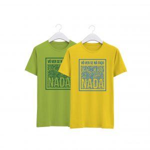 fotos das tshirts verde e amarela na faço nada da colecção alentejanices crianças