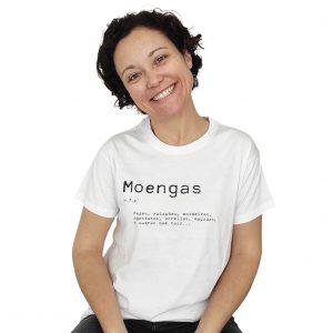 t-shirt moengas branco agasturas arrelias dicionário ti xico